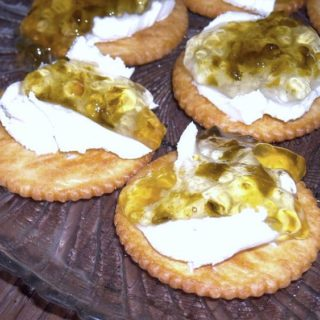 jalapeno pepper jam with cream cheese and crackers via flouronmyface