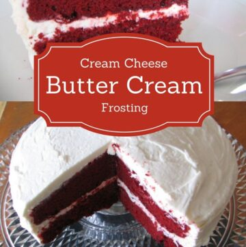Cream Cheese Butter Cream Frosting recipe via flouronmyface.com