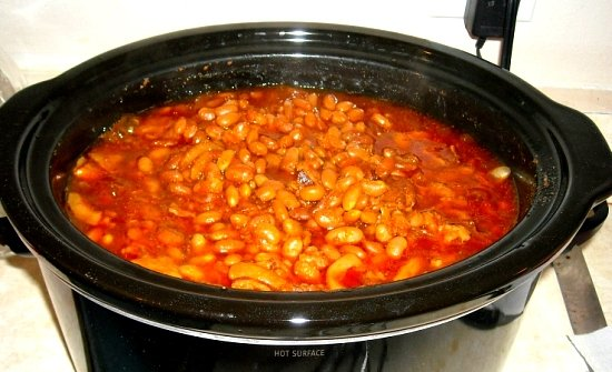 Easy Crock Pot Baked Beans Deluxe, Easy Baked Beans