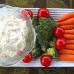 ranch vegetable dip, ranch dip, easy ranch dip