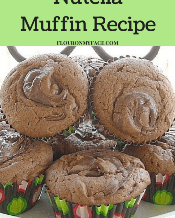 Nutella Muffin Recipe via flouronmyface.com