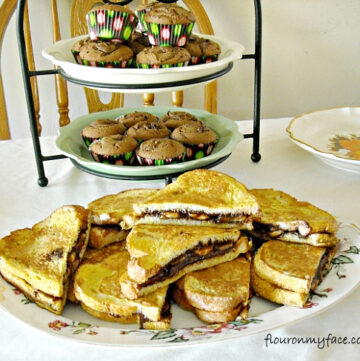Platter of Double Stuffed Nutella French Toast