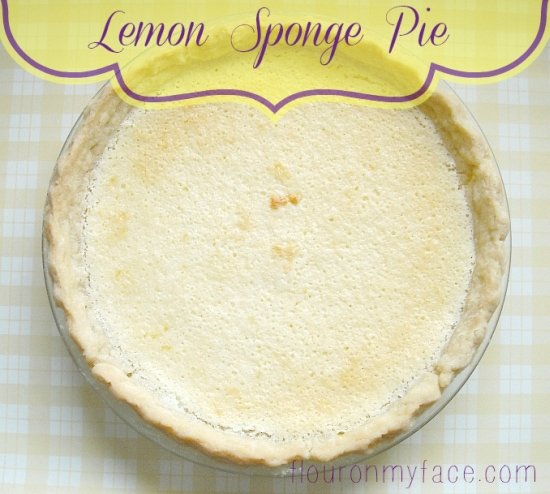lemon sponge pie, lemon pie, vintage recipes, family recipes,