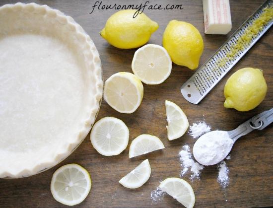 Old vintage Amish Lemon Sponge Pie recipe via flouronmyface.com