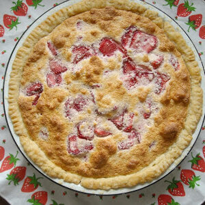 Strawberry Sponge Pie