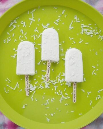 Coconut Milk Tropical Ice pops recipe via flouronmyface.com