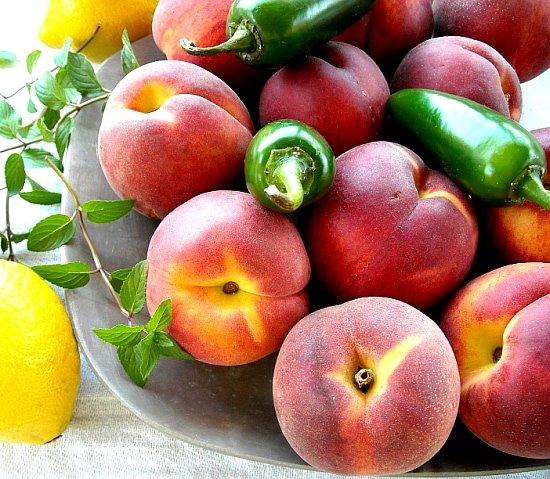 Peach and Jalapeno Jam ingredients