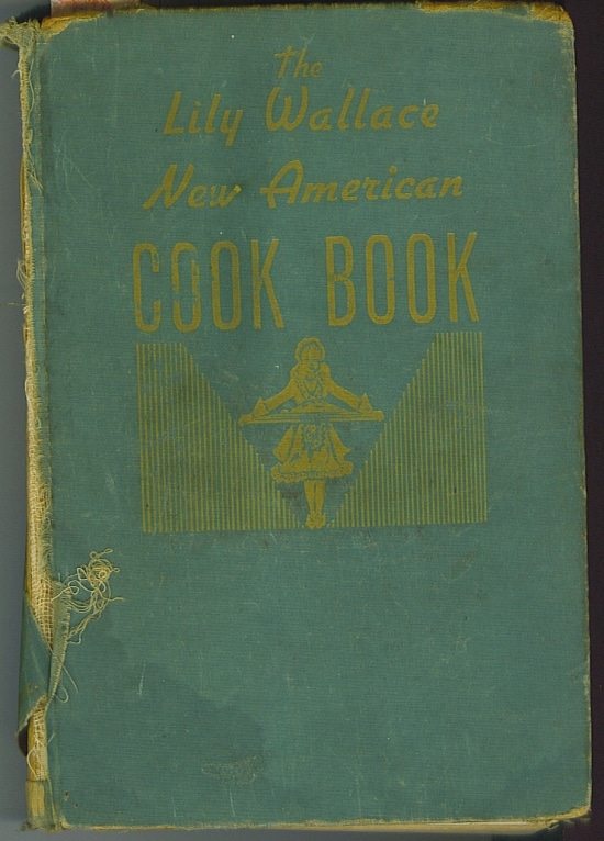 Lily Wallace Vintage Cookbook, 1946, vinatge recipes, kuchen pudding