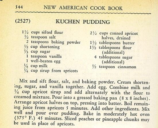 vintage kuchen recipe, Peach Kuchen Recipe