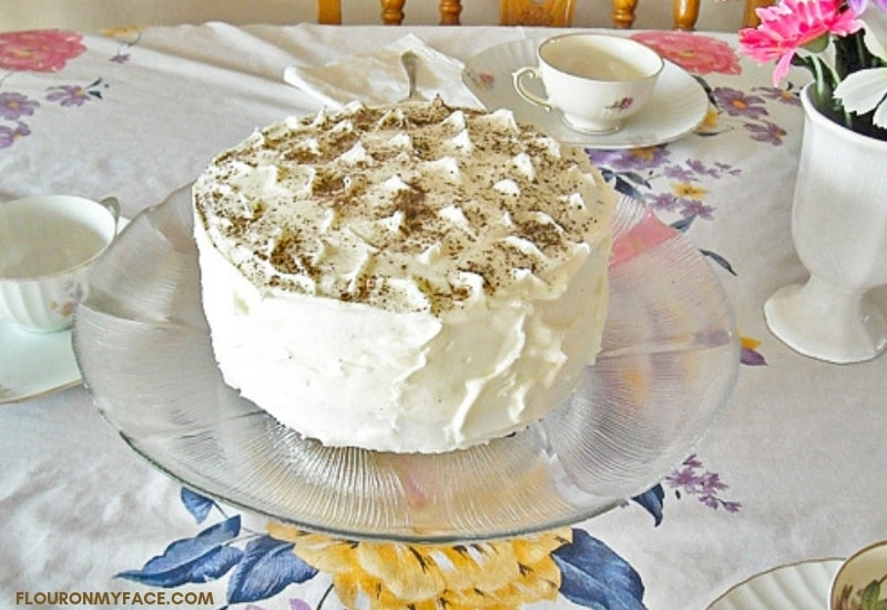 Vegan or Vegetarian Chocolate Cake recipe.