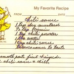 vintage recipe, vintage recipe project, old family recipes, chili sauce recipe