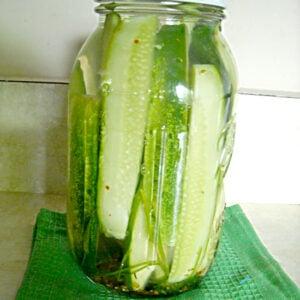 How to make Refrigerator Garlic Dill Pickles via flouronmyface.com