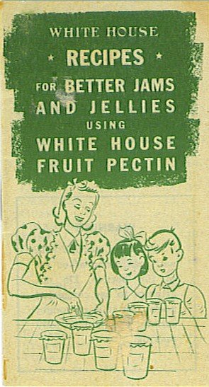 Old vintage White House Fruit Pectin Booklet