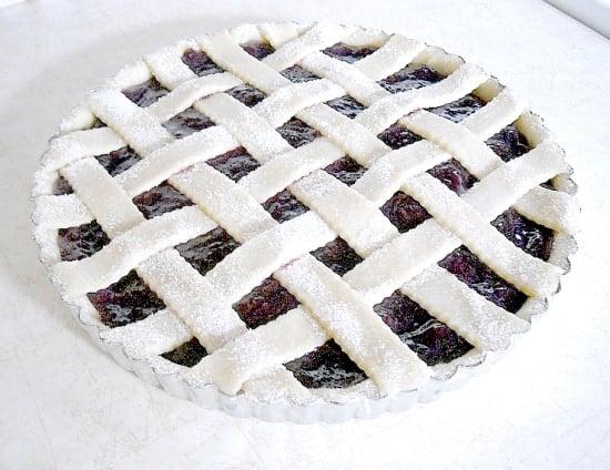 Easy, Cherry, Tart, Easy Cherry Tart, Lattice Crust, Homemade pie crust