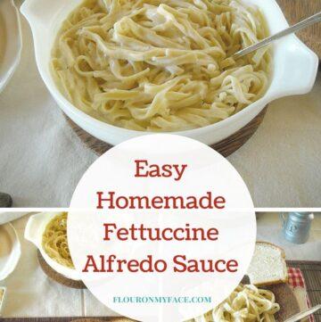 Easy Homemade Fettuccine ALfredo Sauce made with milk