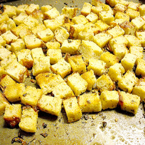 How to Make Croutons, Homemade Croutons, Homemade Seasoned Croutons, Crouton Recipe