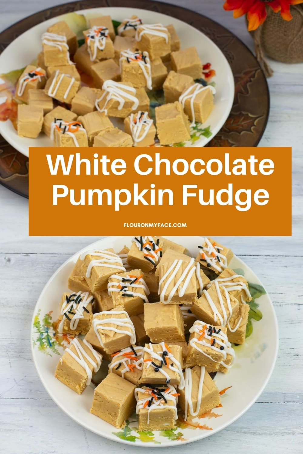 featured image of White Chocolate Pumpkin Fudge