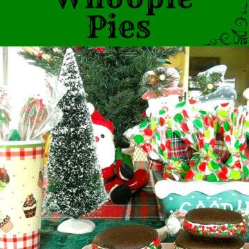 Christmas Whoopie Pies, Homemade Christmas, Whoopie Pie Recipe, Christmas Recipes