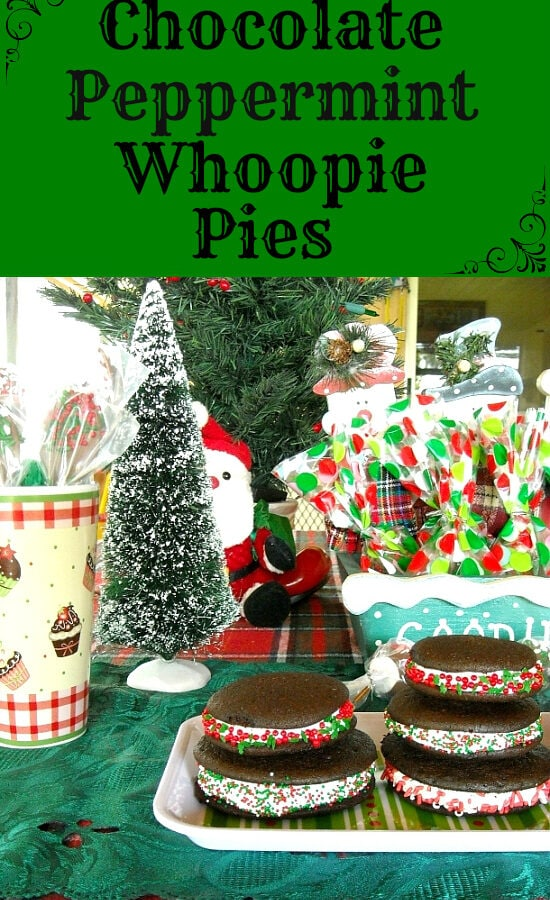 Christmas Whoopie Pies, Homemade Christmas, Whoopie Pie Recipe, Christmas Recipes