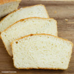 Three slices of Homemade Bread