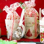 Homemade Christmas Gifts Peppermint Hot Cocoa Mix in a Jar