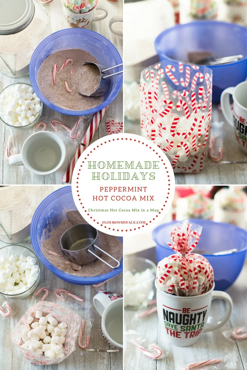 How to make Peppermint Hot Cocoa Mix for Christmas Hot Cocoa Mix in a Jar Gifts