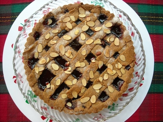 Raspberry Tart, Linzer Torte, Christmas Dessert Recipe