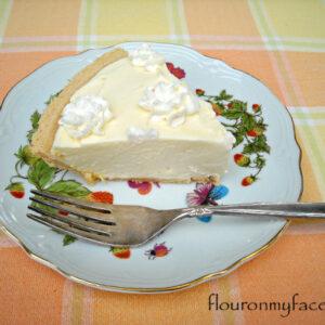 no bake pie, orange curd pie, easy pie, orange