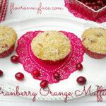 Valentine Day Cranberry Orange Muffins