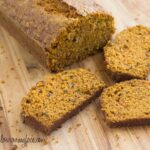 Carrot Cake Bread loaf and slices via flouronmyface.com