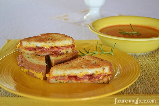 Rosemary Bacon Tomato Grilled Cheese