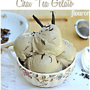 Vanilla Bean Chai Tea Gelato recipe via flouronmyface.com