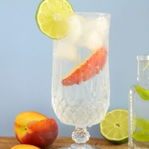 Lemon Basil Soda recipe using fresh lemon basil