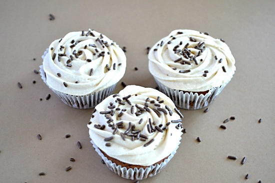 Trio of Mocha Brwonie Cupcakes