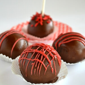 Chocolate Covered Cherry Cakeballs