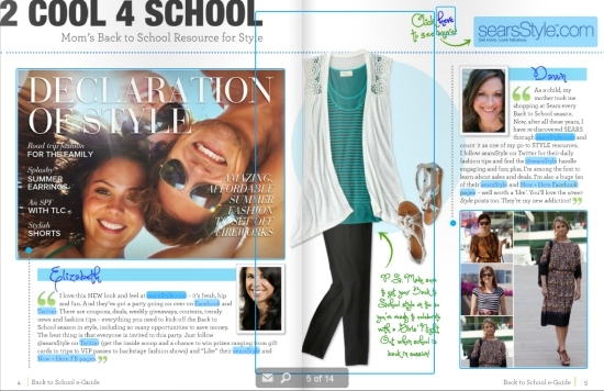 Mom's Back to School Fashions at searsstyle.com