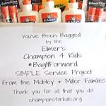 Classroom Donation with Elmer's #BagItForward