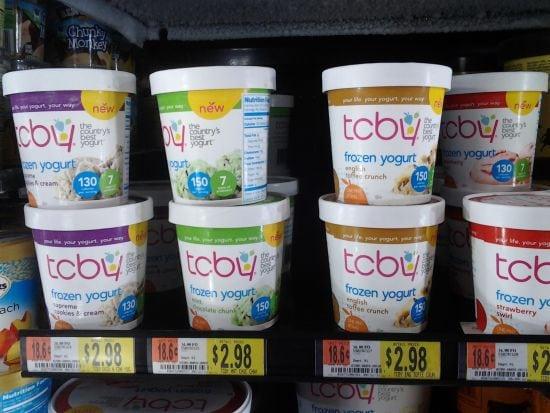Walmart TCBY Pint Flavors