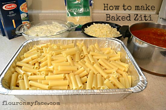 How to make Baked Ziti via flouronmyface.com