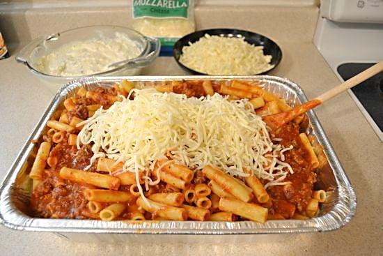 Baked Ziti add mozzarella