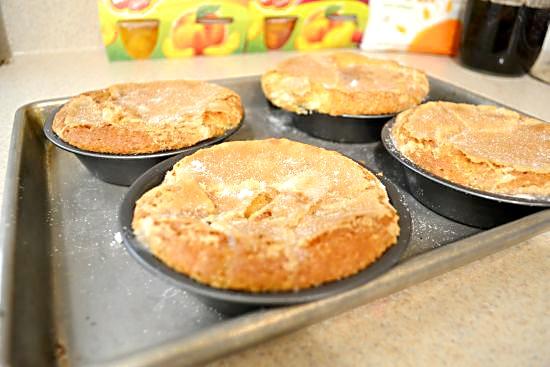 Del Monte Peach Cobbler Pie Baked