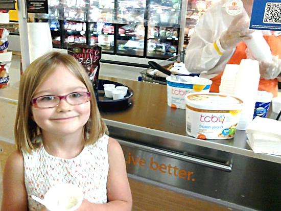 TCBY Frozen Yogurt Samples at Walmart