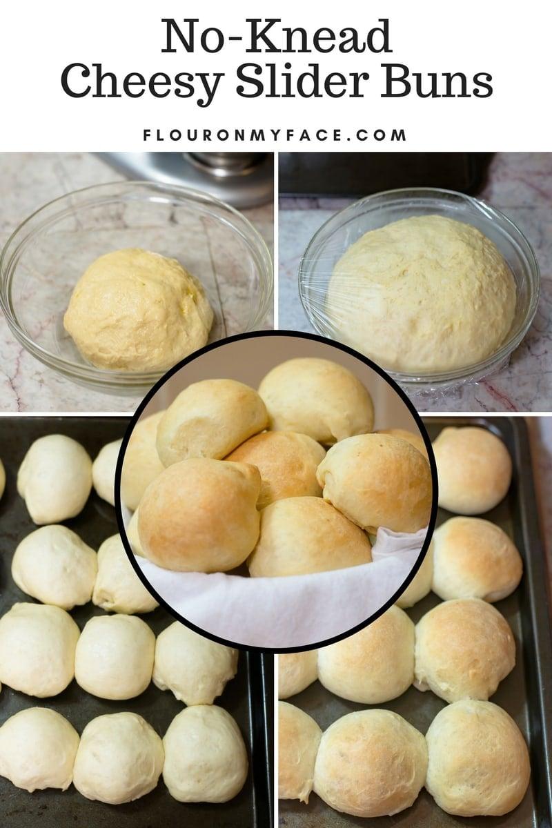 Cheesy Bun dough on a cookie sheet