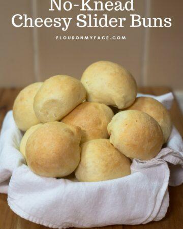 A bread basket full of homemade slider buns