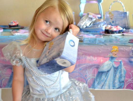 Princess Emma with her Disney Cinderella Tin Purse