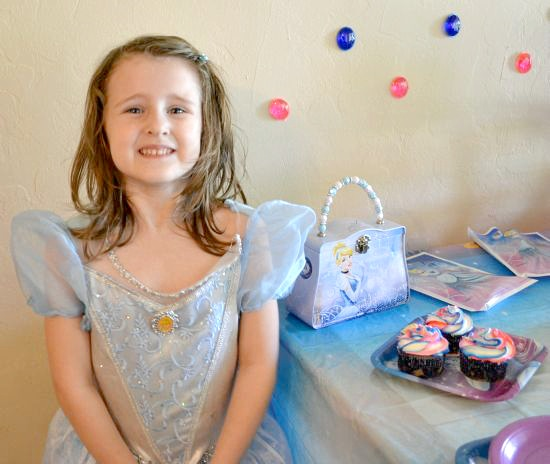 Disney Princess Party Brianna party favors and royal cupcakes