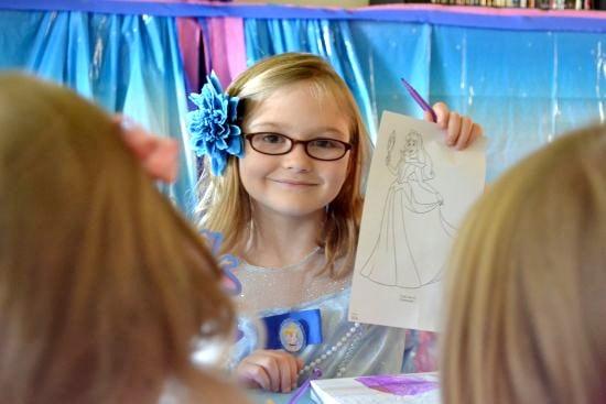 Princess Hailey and her Cinderella ColoringPage