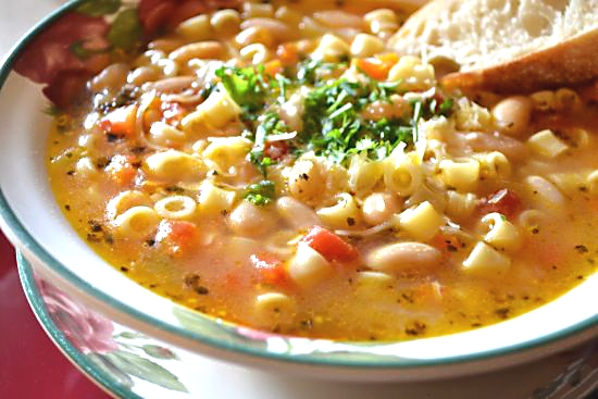 Ditalini Soup with White Beans