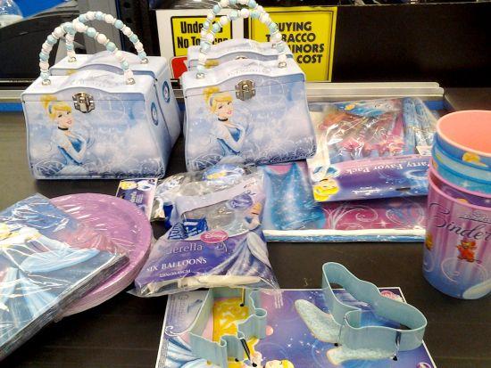 Disney Cinderella Metal Purse and party supplies