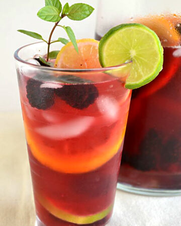 Lipton Tea and Honey Sangria Mocktail #FamilyTeaTime